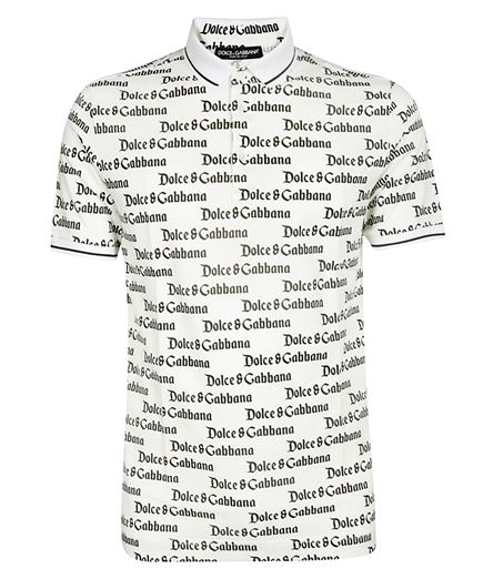 Dolce & Gabbana G8HU6T FS762 ALLOVER LOGO Polo