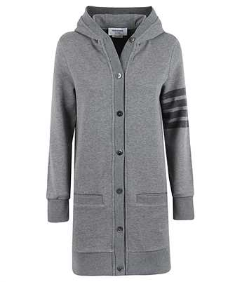 Thom Browne FJT141A 06910 HIP LENGTH HOODED Cardigan