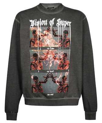 Vision Of Super G12TRIPLE TRIPLE SKULL PRINT Sweatshirt