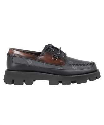 BERLUTI S5396 001 TWIST LEATHER AND SIGNATURE CANVAS BOAT Shoes