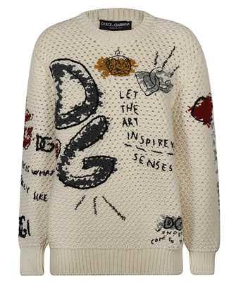 Dolce & Gabbana FX204Z JAM5W INTARSIA AND EMBROIDERY Knit