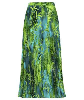 Versace A79719 A234748 JUNGLE PRINT PLEATED Skirt