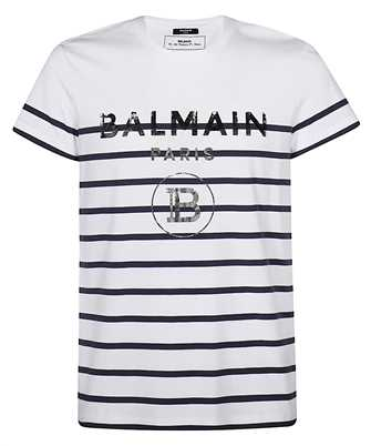 Balmain TH11601I225 STRIPED COTTON T-shirt
