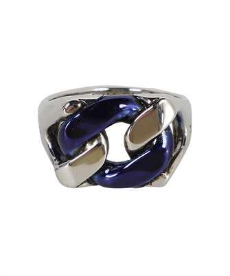 Alexander McQueen 663692 IAG2Y BLUE CHAIN Ring