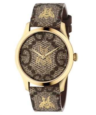 Gucci Timepieces YA1264068A 126MD BGE&BEE/2NPVD/GG FAB&BEE 38mm Watch