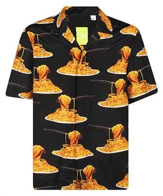 Paul Smith M1R 028U E01259 TAILORED-FIT SPAGHETTI PRINT Shirt
