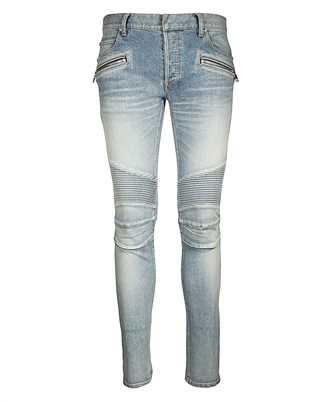 Balmain RH15130Z009 SLIM RIB POCKET ZIP VINTAGE Jeans