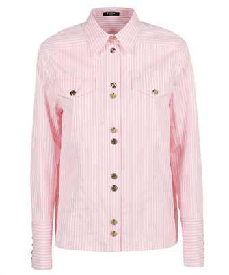 Balmain WF1HS106C300 STRIPED COTTON-POPLIN Shirt