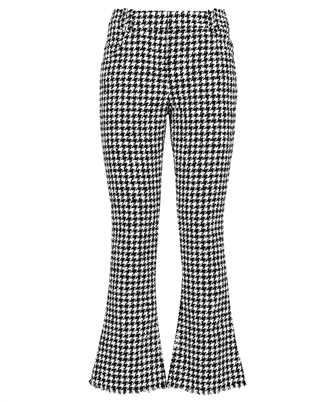 Balmain WF1PP056C299 HOUNDSTOOTH FLARE Trousers