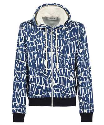 Lanvin RM HO0006 J064 A21 ALLOVER PRINTED ZIPPED Hoodie