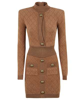Balmain UF06332K113 SHORT DIAMOND KNIT Dress