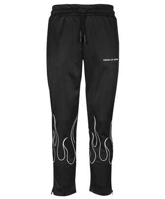 Vision Of Super B16WHITEFL EMROIDERED FLAMES Trousers