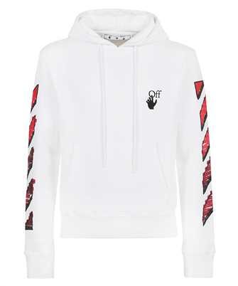 Off-White OMBB034R21FLE003 MARKER SLIM Kapuzen-Sweatshirt