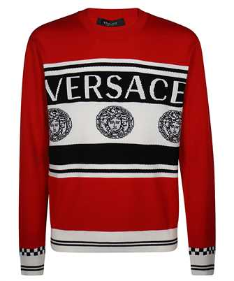 Versace A86467 A235922 LOGO INTARSIA Knit