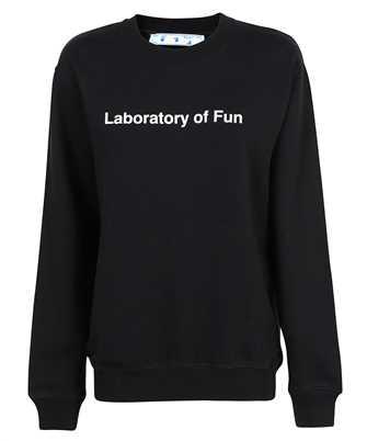 Off-White OWBA055F21JER008 LABORATORY OF FUN CREWNECK Sweatshirt