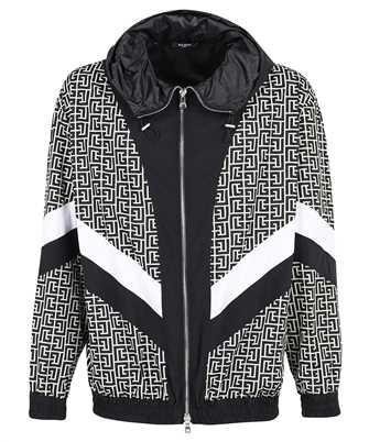 Balmain WH1TG055687I HOODED NYLON Jacket