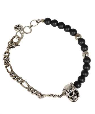 Alexander McQueen 650933 I12ZY BEADS AND SKULL Armband