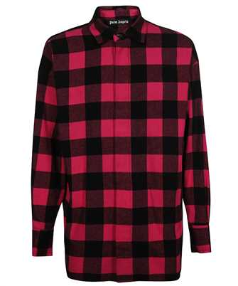 Palm Angels PMGA079F21FAB001 FLANNEL CURVED LOGO OVER Shirt