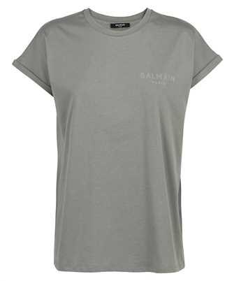 Balmain VF0EF010B013 FLOCKED LOGO DETAIL T-shirt