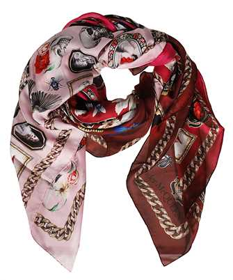 Alexander McQueen 568693 3011Q CAMEO AND CURIOSITIES Scarf