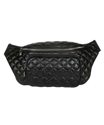 Balmain SM1S037LNMT QUILTED LEATHER Belt bag