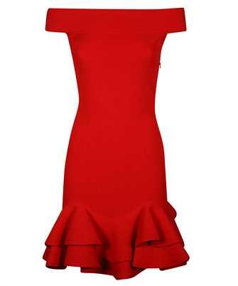 Alexander McQueen 633641 Q1APM OFF-THE-SHOULDER KNIT MINI Dress