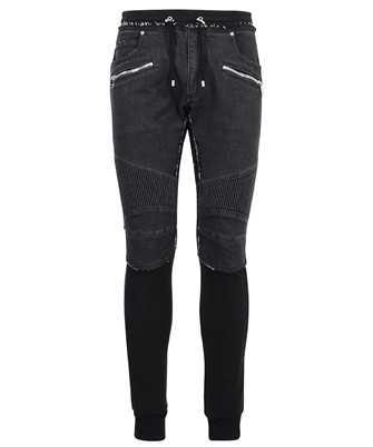 Balmain WH1MD005146D MIX FLEECE DENIM Trousers