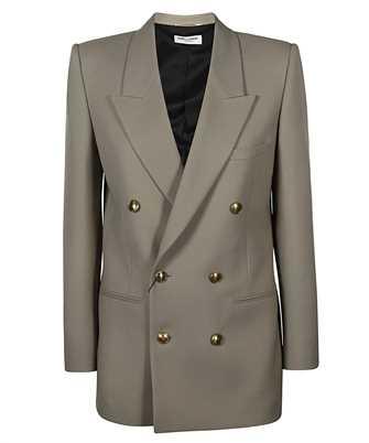 Saint Laurent 648754 Y7B73 DOUBLE-BREASTED WOOL GABARDINE Jacket