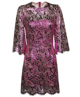 Dolce & Gabbana F6R5UT HLM4T SHORT LAMINATED LACE Dress