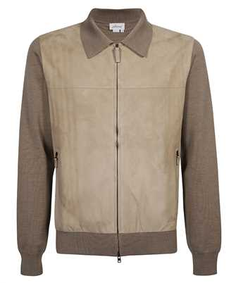Brioni UMIK0L P0K28 SUSTAINABLE WOOL AND SUEDE BOMBER ZIP Jacket