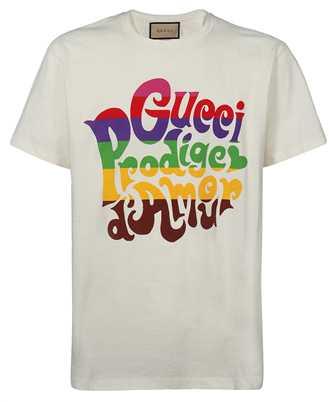 Gucci 548334 XJDAM PRODIGE D'AMOUR PRINT T-shirt