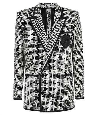 Balmain WH1SI071982J MONOGRAM DOUBLE JERSEY Jacket