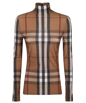 Burberry 4566771 CHECK STRETCH JERSEY TURTLENECK Top