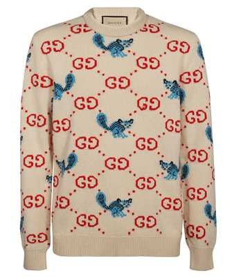 Gucci 661836 XKBXX FREYA HARTAS GG ANIMAL Knit