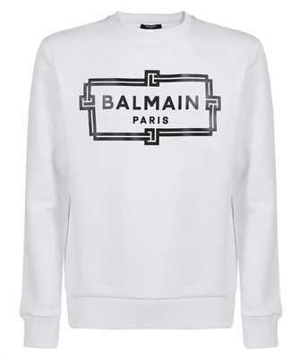 Balmain VH0JQ040G066 BOX LOGO PRINT Sweatshirt