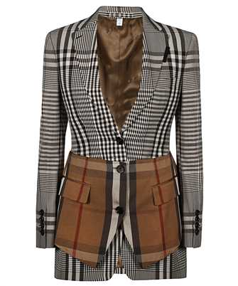 Burberry 4566100 BASQUE DETAIL CHECK TECHNICAL WOOL TAILORED Jacket