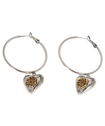 Alexander McQueen 640266 J160Z HEART LOCKET HOOP Earrings