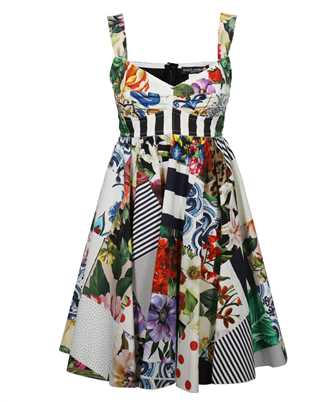 Dolce & Gabbana F6P0MT GDY45 SHORT PATCHWORK Dress
