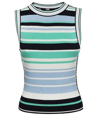 Karl Lagerfeld 215W2002 STRIPED RACER KNITTED Top