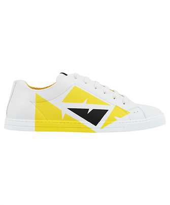 Fendi 7E1379 AC77 LEATHER LOW TOPS Sneakers