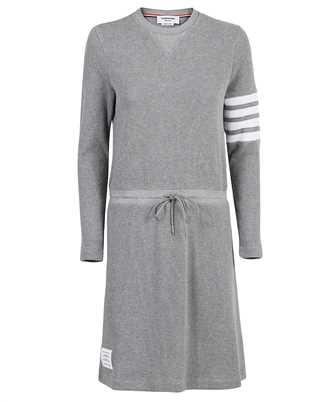 Thom Browne FJD083A 05802 LONG SLEEVE KNEE LENGTH TIE WAIST Dress