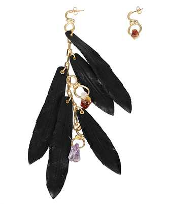 Dsquared2 ERW0084 37202404 LEATHER FEATHER Earrings