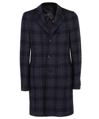Etro 1C904 0160 WOOL CHECK Coat