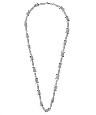 Darkai DICO0011BBDIL BARBED WIRE ICED OUT Necklace