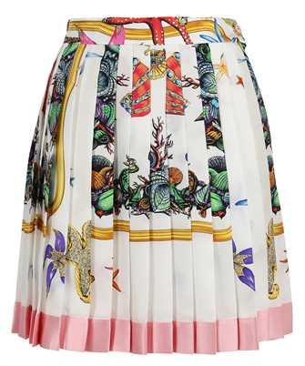 Versace A79448 1F01000 TRÉSOR DE LA MER PRINT PLEATED SILK Skirt