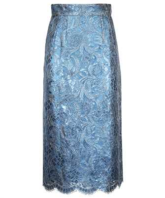 Dolce & Gabbana F4B7IT HLM4T LAMINATED LACE MIDI Skirt