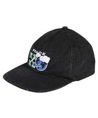 Off-White OMLB022R21FAB005 PEACE WORLDWIDE Cap