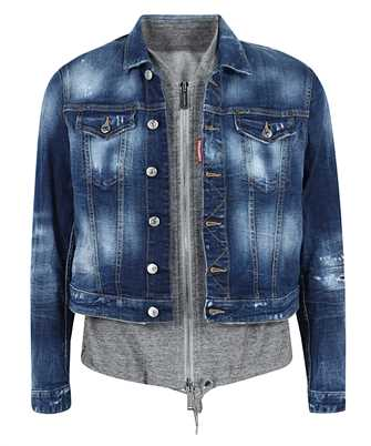 Dsquared2 S74AM1124 S30342 COMBINED SWEATSHIRT DENIM Bunda