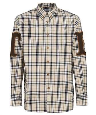Burberry 8042350 LETTER GRAPHIC CHECK COTTON POPLIN Shirt