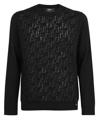 Fendi FZY413 AEK3 TRANSPARENT FF MOTIF Knit